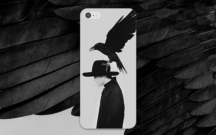 Black Bird couple Crow Man Animal simple stylish ideas phone case iphone5,5s,iphone6,6s,iphone6plus,6splus cases covers accessories smart phone cases phone skins