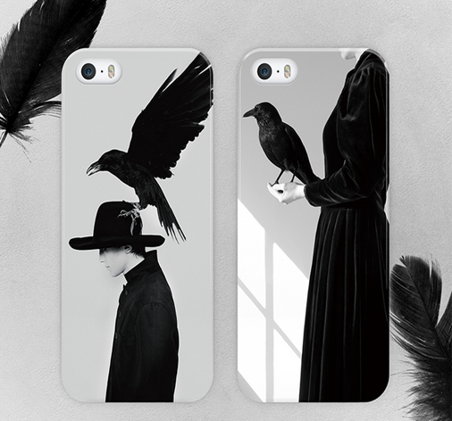 White Bird couple Crow girl Animal simple stylish ideas phone case iphone5,5s,iphone6,6s,iphone6plus,6splus cases covers accessories smart phone cases phone skins