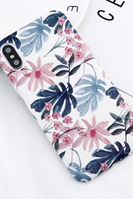 Phone case Popular Plant Flower ins Tumblr iPhone 6,6s,6plus,6s plus,7,7plus,8,8plus, iPhone X cases