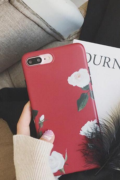 Clear Phone case Popular Plant Flower ins Tumblr iPhone 6,6s,6plus,6s plus,7,7plus,8,8plus, iPhone X cases