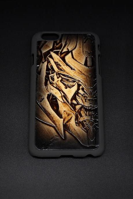 Homepage › Handmade Transformers Decepticons Megatron carved leather plastic phone case iphone custom phone case
