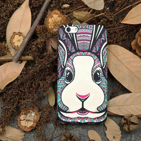 Phone cases Rabbit awesome Animal for teensiphone5,iphone5s,iphone6,iphone6s,iphone6plus,iphone6splus cases covers accessories smart phone cases phone skins